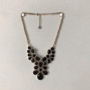 Claire's   Black & Gold Chunky Statement Necklace